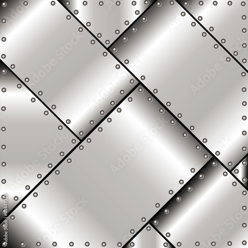 Background of metal plates