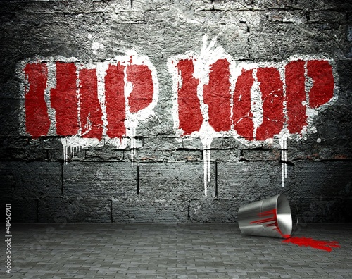 Photo Graffiti wall with hip hop, street background