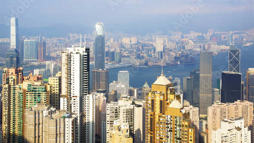 Hong Kong skyline. Fototapet