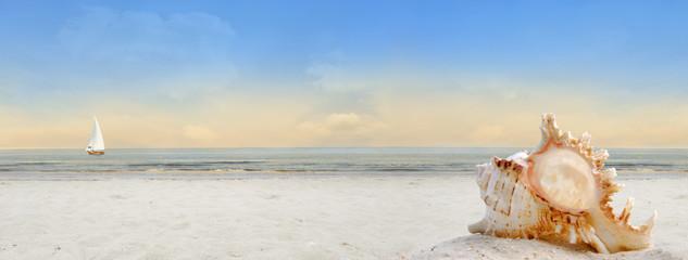 Panel Szklany Podświetlane Panorama Am Meer Banner Hintergrund