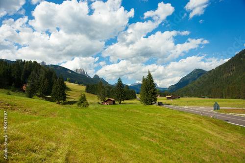 Keuken foto achterwand Wijngaard Alpine landscape