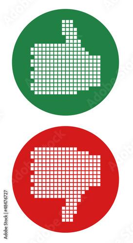 Foto op Aluminium Pixel Vote hand icons