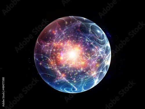 Pinturas sobre lienzo  Fractal Sphere Background