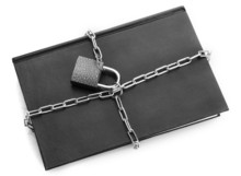 Black Book With Chain, Isolate...