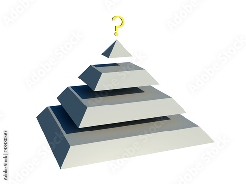 pyramid with question Tablou Canvas