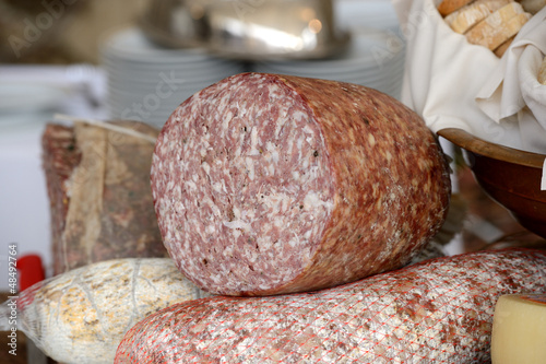 Photo sur Plexiglas Zen pierres a sable A Tuscan Salami Made With Fennel