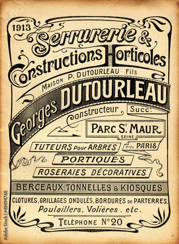 Obrazy na płótnie Canvas Affiche Art Nouveau