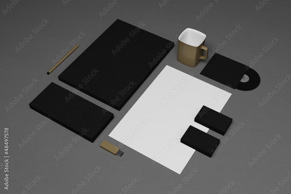 Photo  Blank corporate identity elements