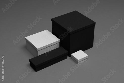 Blank corporate identity box Canvas Print