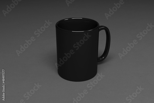 Photo  Blank corporate identity cup