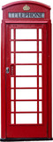 A British telephone box isolated - 48497718