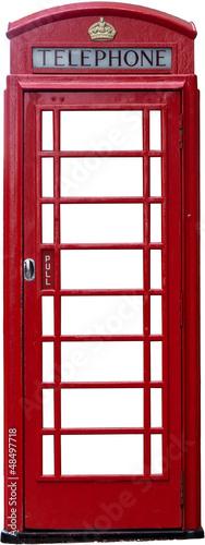 Odizolowywająca brytyjska budka telefoniczna