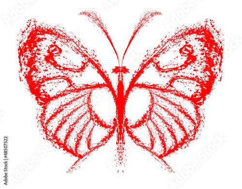 Foto op Aluminium Vlinders in Grunge Abstract butterfly