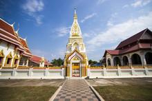 Golden Pagoda In Phra That Prasit,Nakhonphanom, Thailand