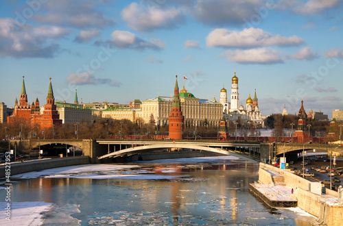 Foto op Canvas Moskou Panorama Of The Moscow Kremlin