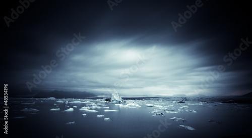 Valokuvatapetti iceberg and ice at jokulsarlon lake