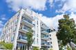 canvas print picture - Wohnung - Haus mit Garten