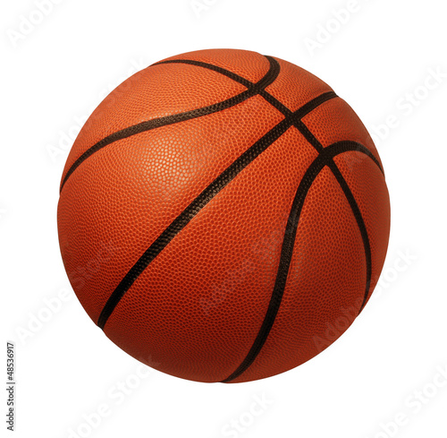Foto op Aluminium Bol Basketball Isolated