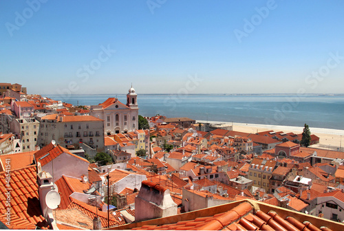 Beautiful view of Lisbon city, Portugal Wallpaper Mural