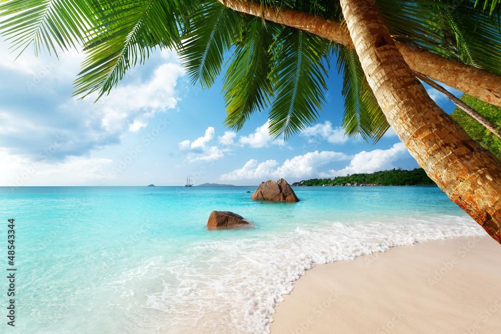 Fototapety, obrazy: Anse Lazio plaża na wyspie Praslin na Seszelach