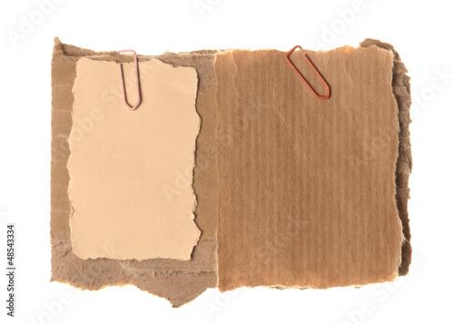 Fotografie, Obraz  Two old paper on cardboard