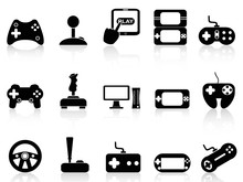 Video Game And Joystick Icons ...