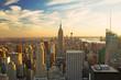 View of Manhattan in sunset light