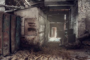 Fototapeta na wymiar abandoned factory