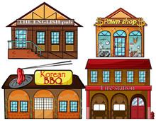 English Pub, Korean Restaurant, Pawnshop And Fire Station