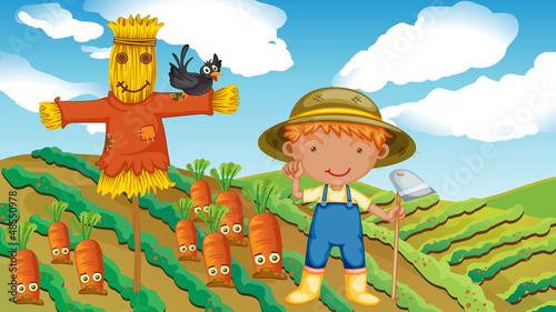Poster Ranch A farmer