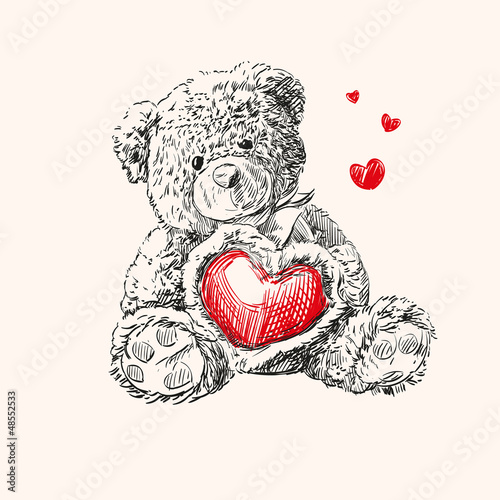teddy bear with  heart.