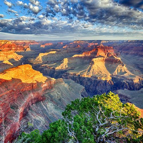 poranne światło w Grand Canyon