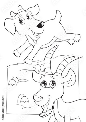 Deurstickers Doe het zelf The coloring plate - illustration for the children