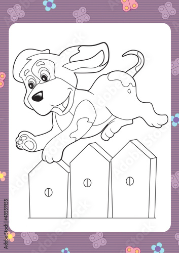 Poster Do it Yourself The coloring plate - illustration for the children