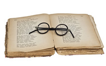 The Old Glasses In An Ancient Book
