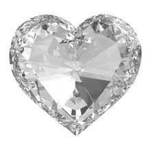 Diamond Heart Isolated With Cl...