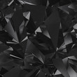 Black crystal facet background