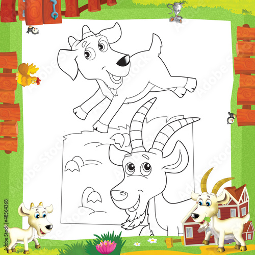 Tuinposter Doe het zelf The coloring plate - illustration for the children