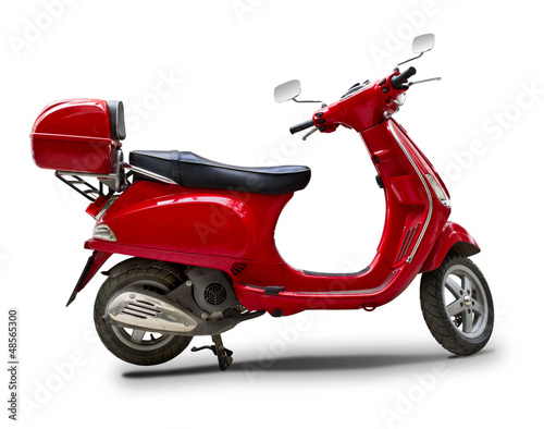 Photo  Red scooter
