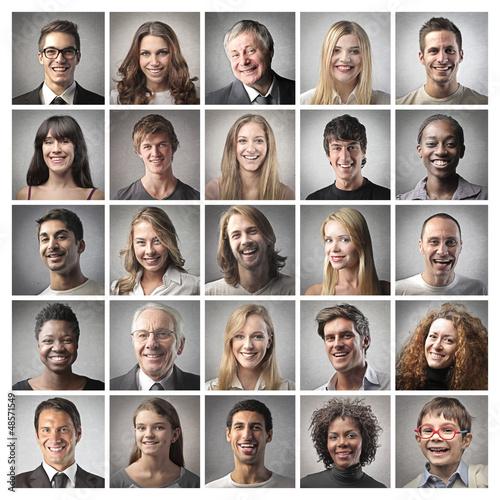 Fotografía  mosaic portraits