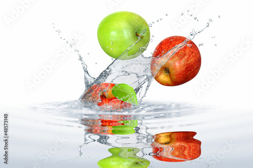 Foto op Canvas Opspattend water Obst 355
