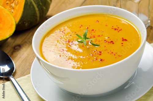 Fotografie, Obraz  Squash Soup with Rosemary and Paprika