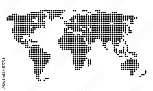 World Bitmap Wallpaper Mural