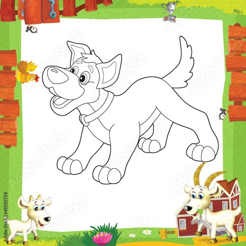 Foto auf Leinwand Zum Malen The coloring plate - illustration for the children