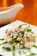 Crab salad with sweet corn
