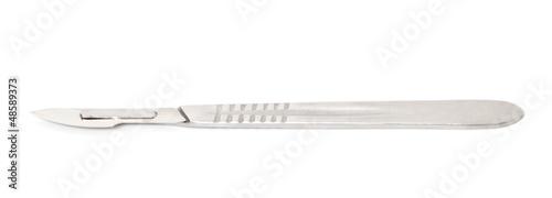 metal scalpel Fotobehang