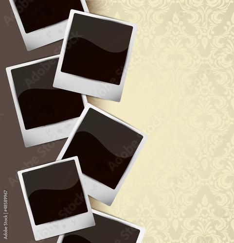 Fototapeta na wymiar Background with photo frames