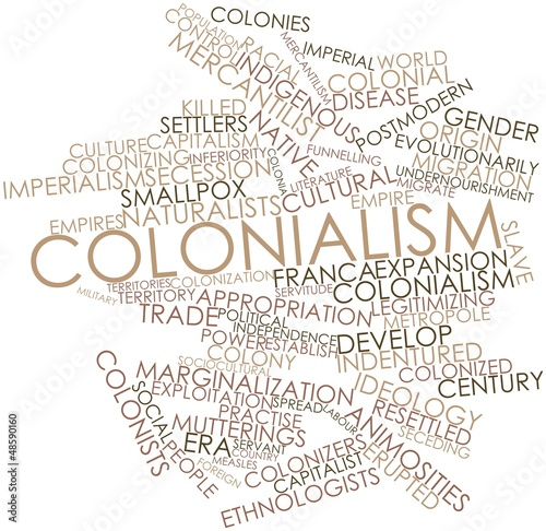 Photographie  Word cloud for Colonialism