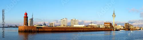 Foto auf AluDibond Stadt am Wasser Panorama der Hafenstadt