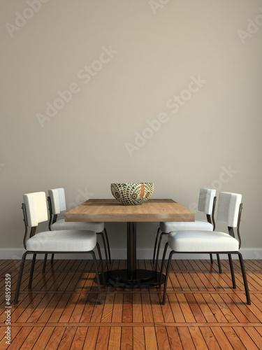 Fotografía  Part of the modern dining-room